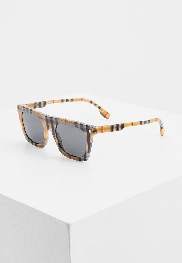 мужские солнцезащитные очки burberry, бежевые