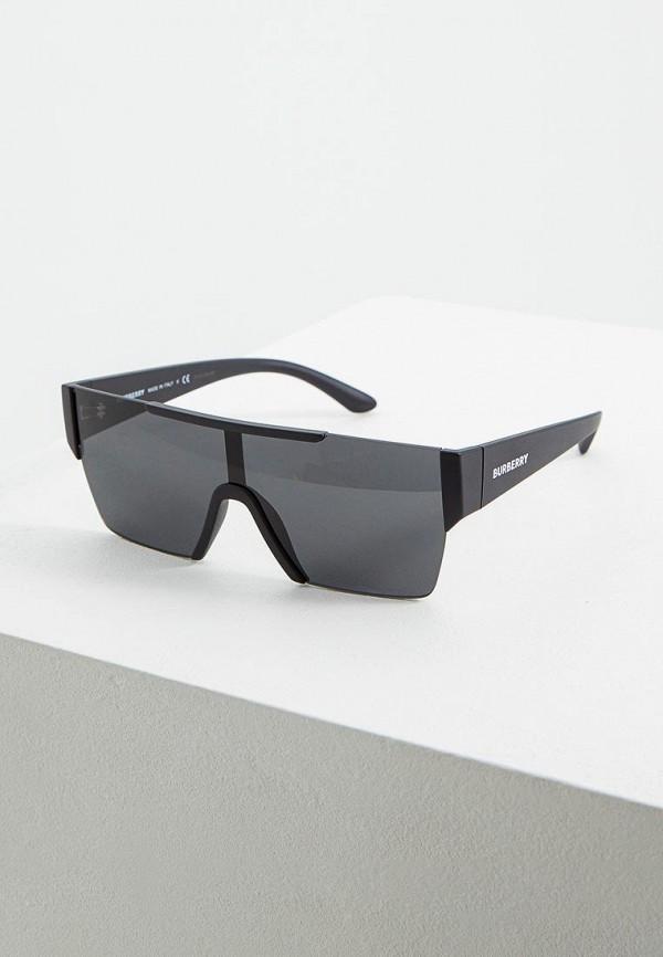 женские квадратные солнцезащитные очки burberry, черные