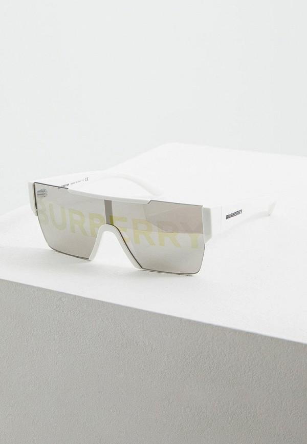женские квадратные солнцезащитные очки burberry, белые
