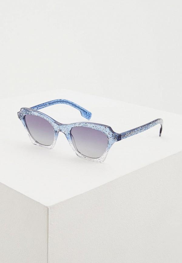 женские солнцезащитные очки кошачьи глаза burberry, голубые