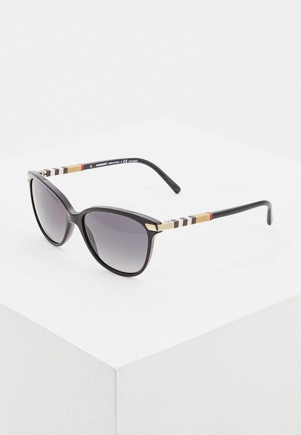 женские солнцезащитные очки кошачьи глаза burberry, черные