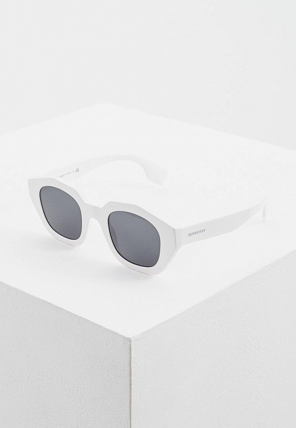 женские солнцезащитные очки burberry, белые