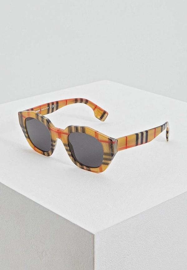 женские солнцезащитные очки burberry, красные
