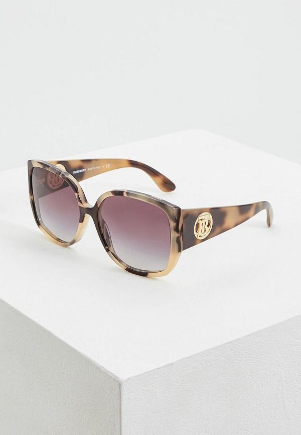 женские квадратные солнцезащитные очки burberry, бежевые