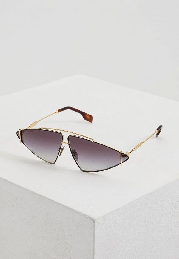 женские солнцезащитные очки burberry, золотые
