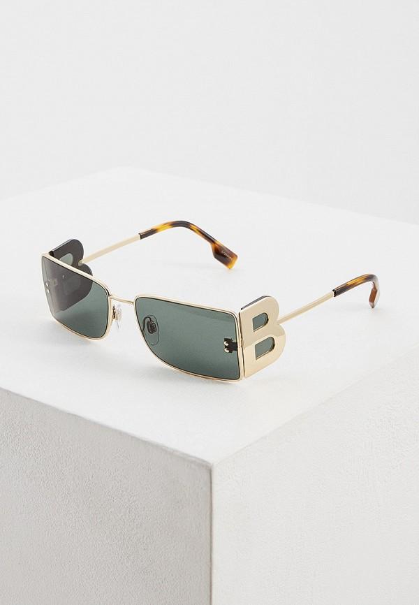 женские квадратные солнцезащитные очки burberry, золотые