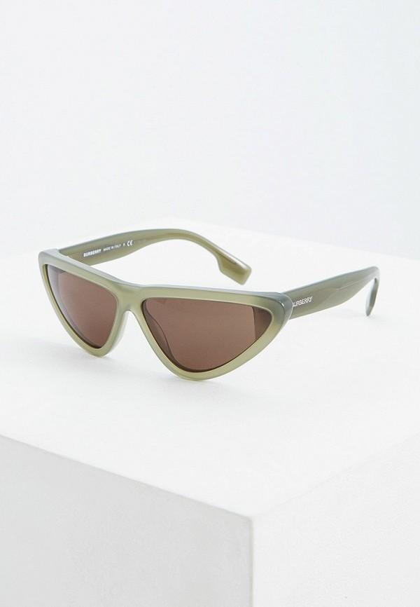 женские солнцезащитные очки кошачьи глаза burberry, хаки