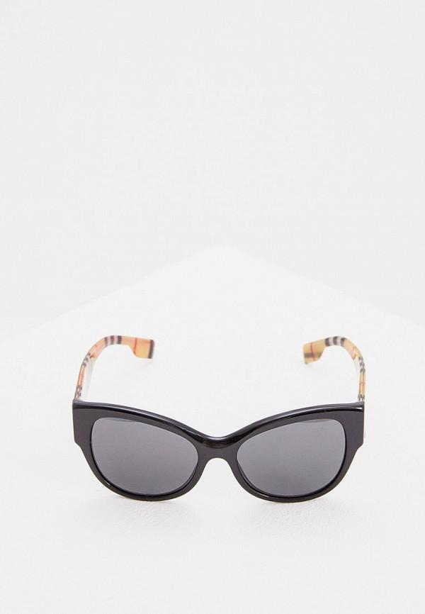 Фото 2 - Очки солнцезащитные Burberry черного цвета