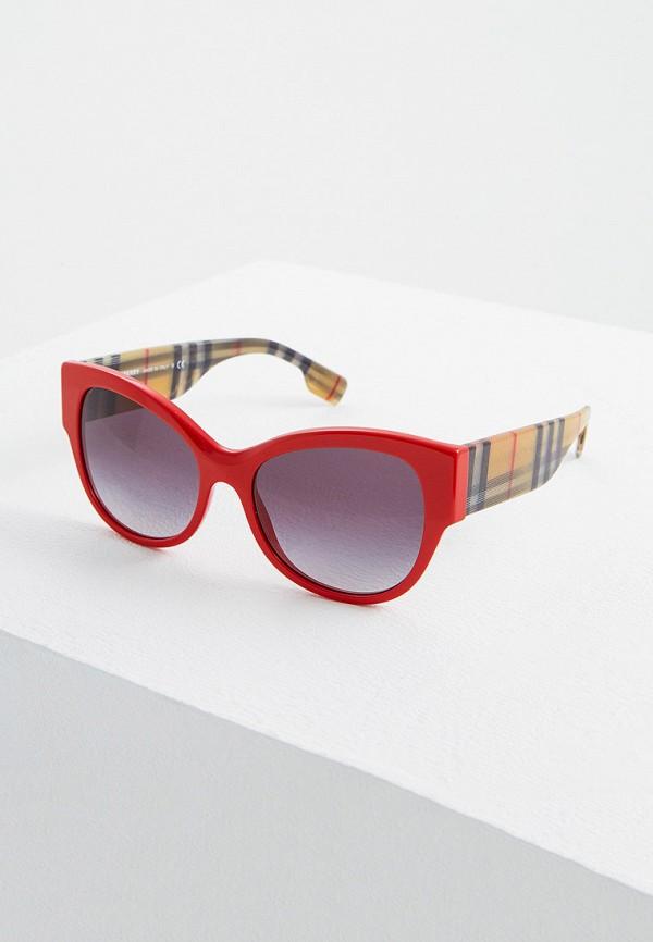 женские солнцезащитные очки кошачьи глаза burberry, красные