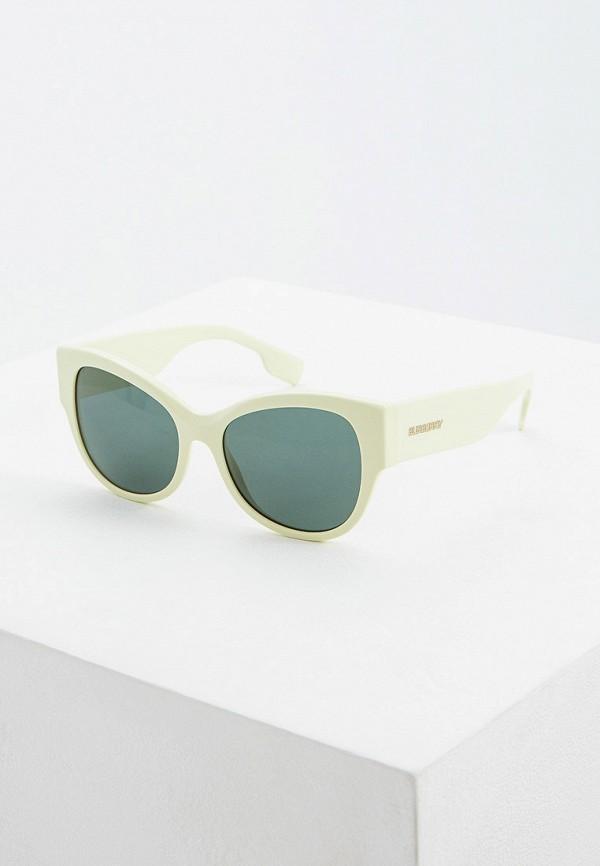 женские солнцезащитные очки кошачьи глаза burberry, зеленые