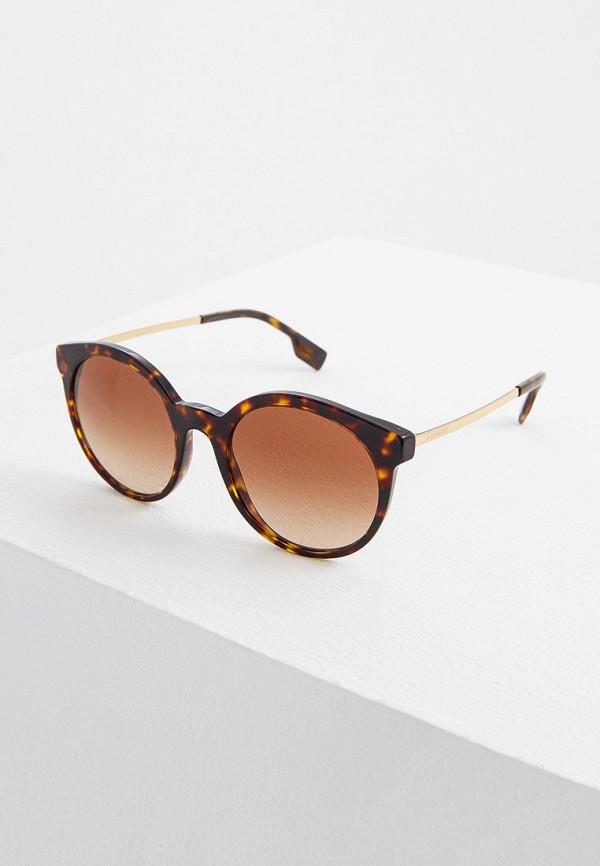 женские круглые солнцезащитные очки burberry