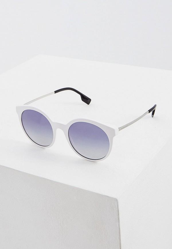женские круглые солнцезащитные очки burberry, белые