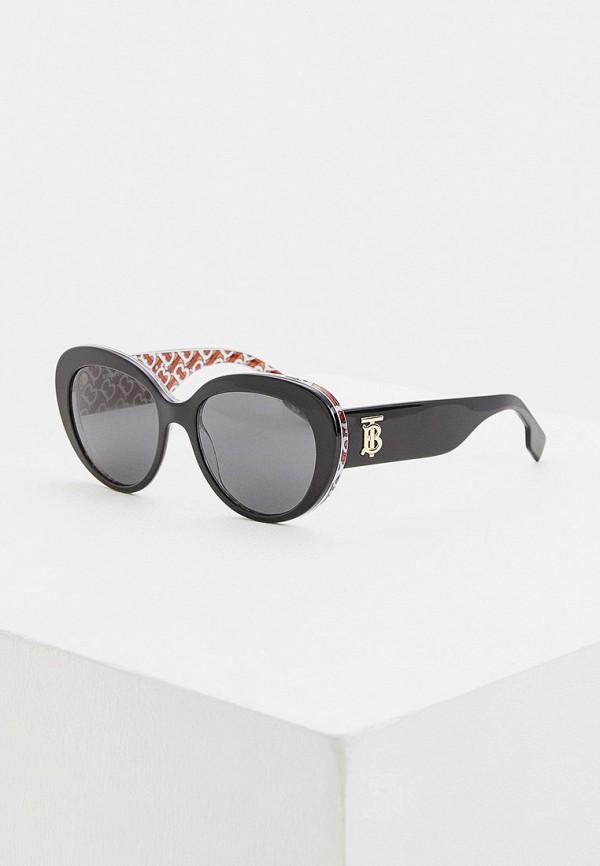 женские круглые солнцезащитные очки burberry, черные