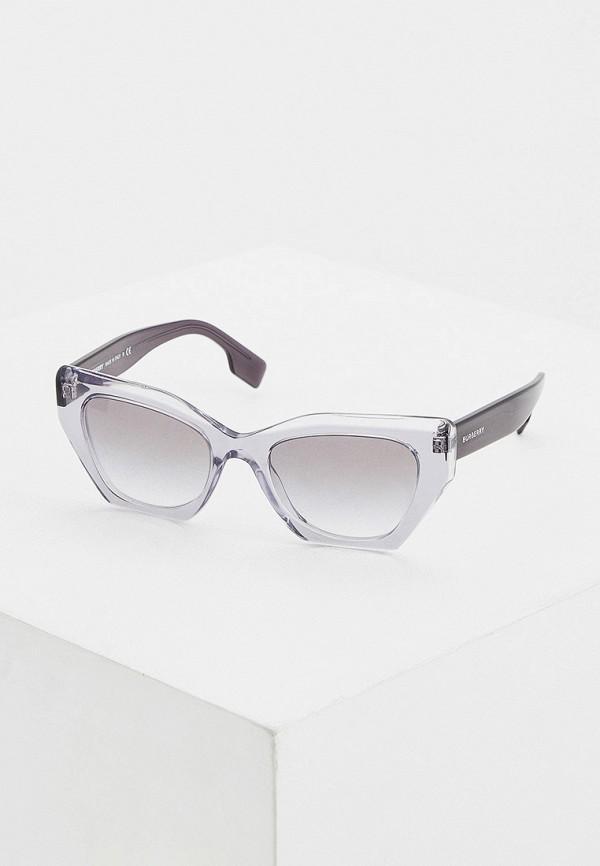 женские солнцезащитные очки кошачьи глаза burberry, серые