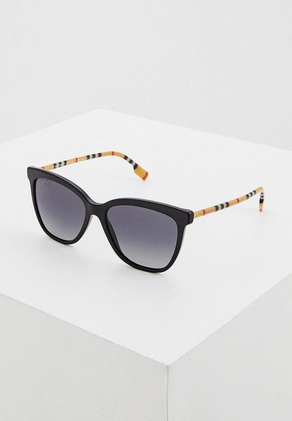 женские квадратные солнцезащитные очки burberry, коричневые