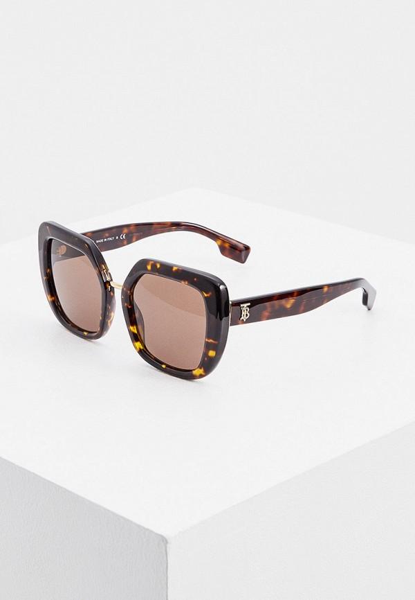 женские солнцезащитные очки burberry, коричневые