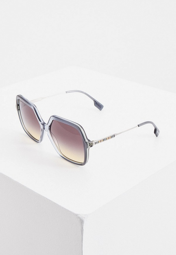 женские квадратные солнцезащитные очки burberry, синие