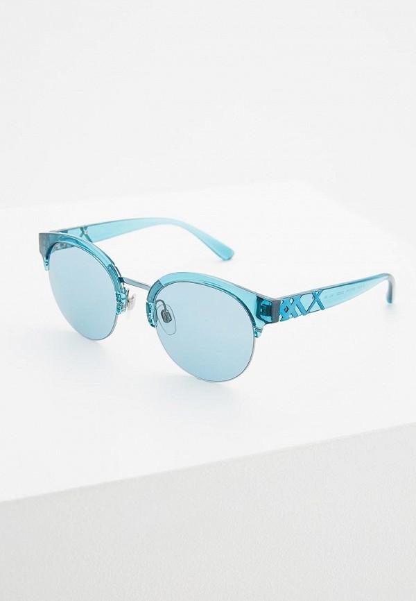 женские круглые солнцезащитные очки burberry, голубые
