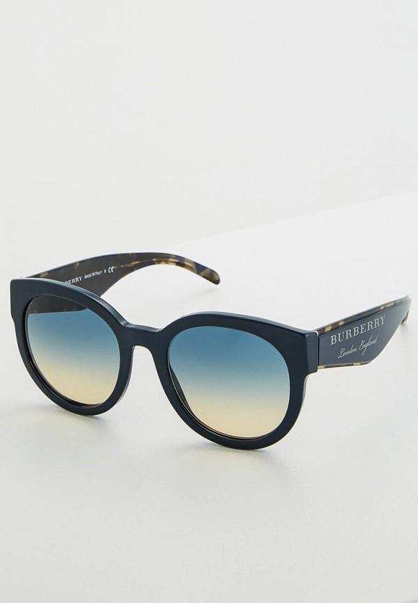 женские солнцезащитные очки burberry, синие
