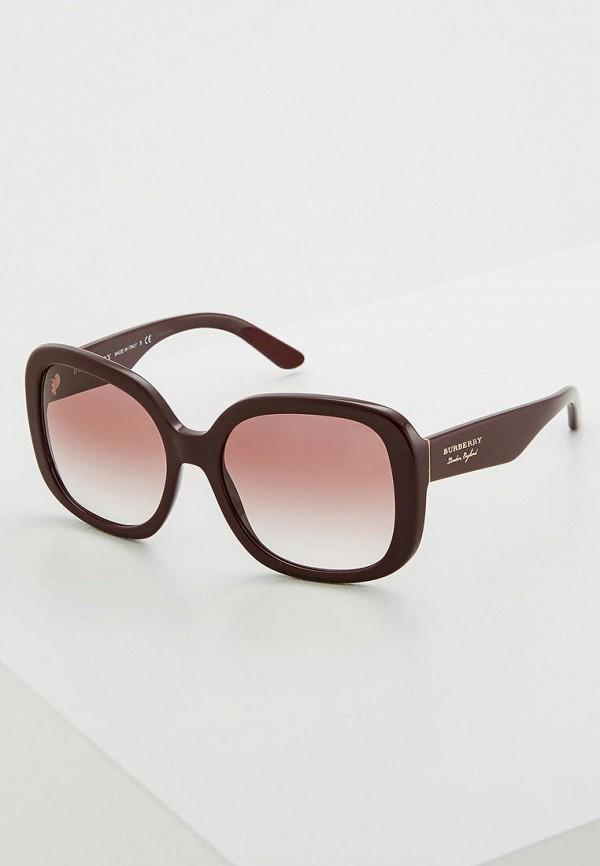 женские солнцезащитные очки burberry, бордовые