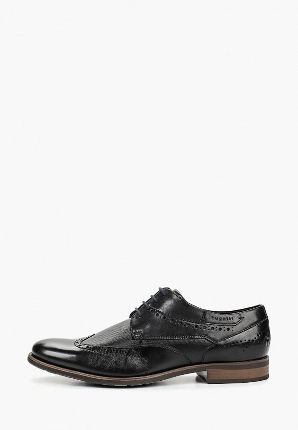 мужские туфли bugatti, черные