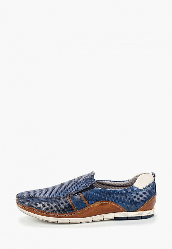 мужские лоферы bugatti, синие