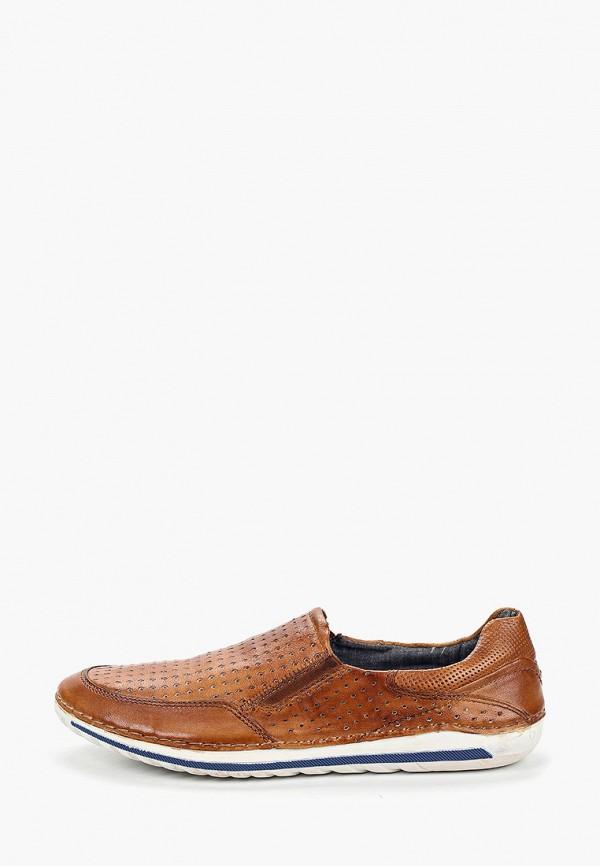 мужские лоферы bugatti, коричневые