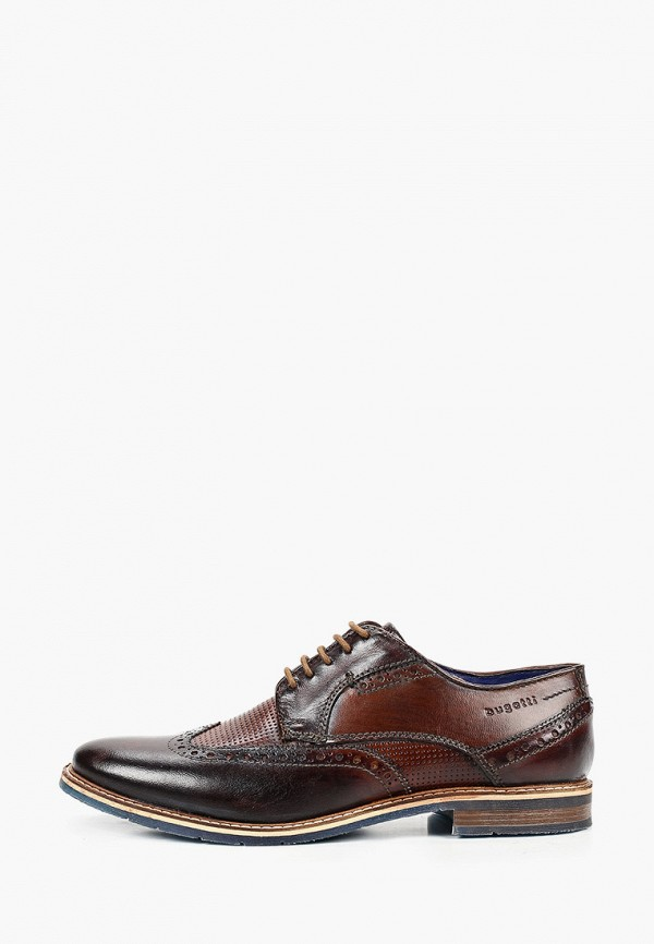 мужские туфли bugatti, коричневые