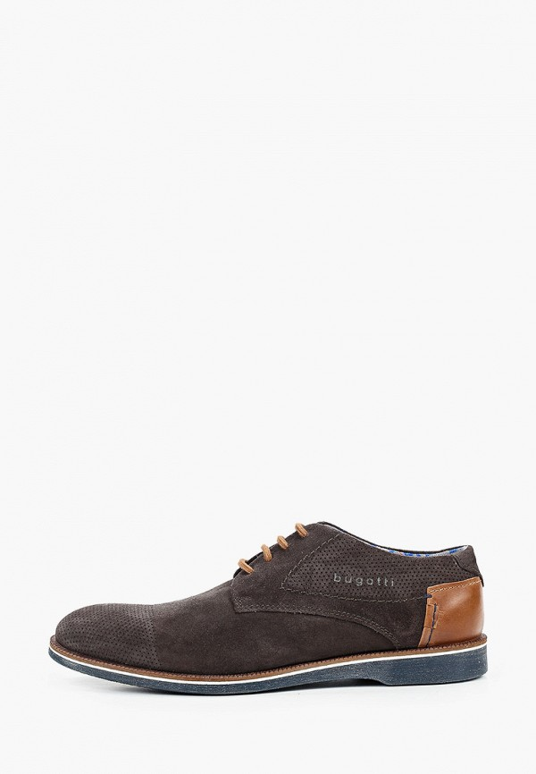 мужские туфли bugatti, серые