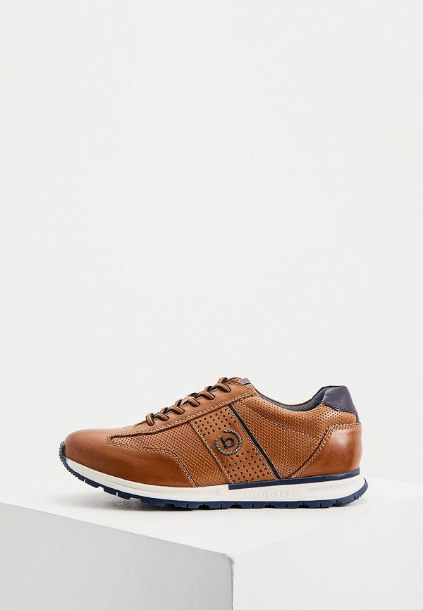 мужские кроссовки bugatti, коричневые