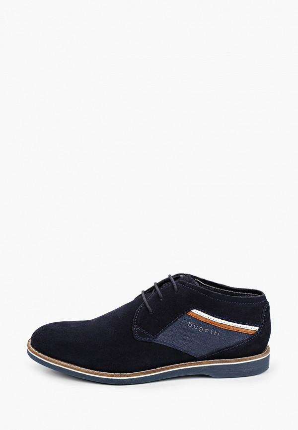 мужские туфли bugatti, синие