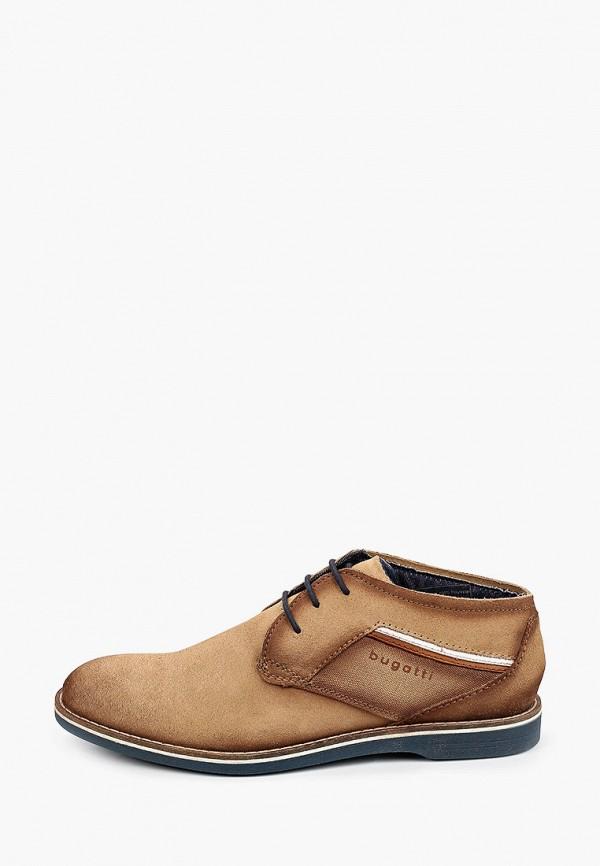 мужские туфли bugatti, бежевые