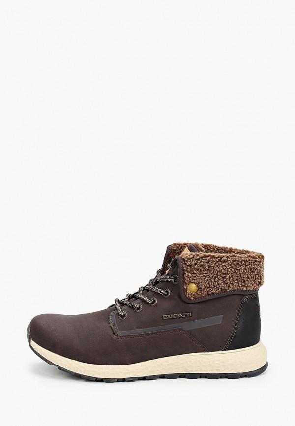 мужские ботинки bugatti, коричневые