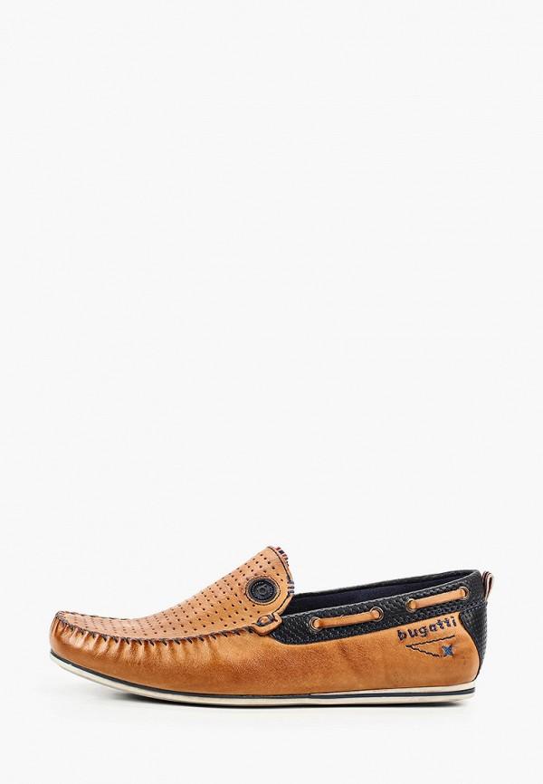 мужские мокасины bugatti, коричневые