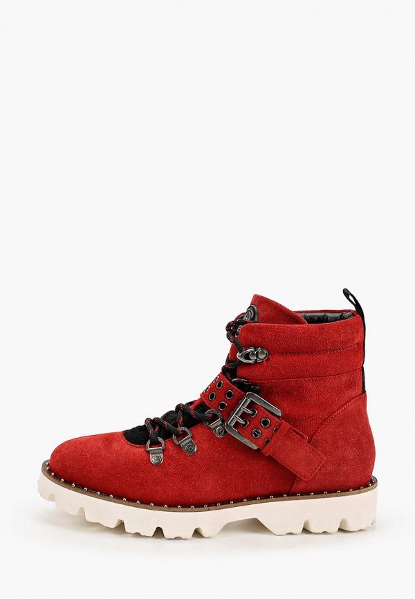 женские ботинки bugatti, красные