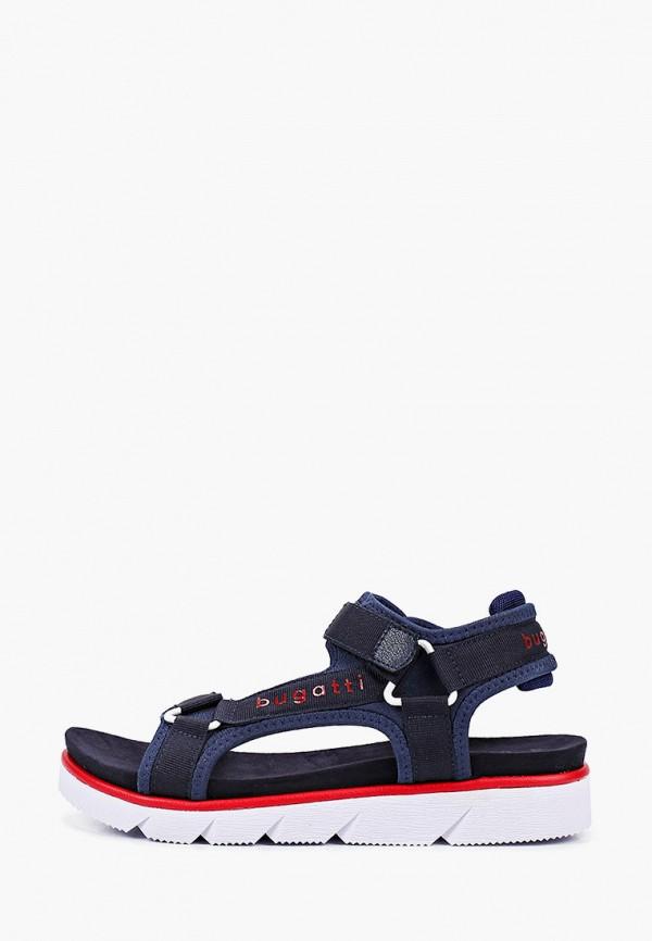 женские сандалии bugatti, синие