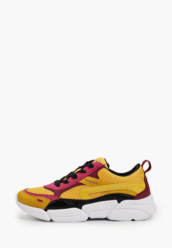 женские кроссовки bugatti, желтые