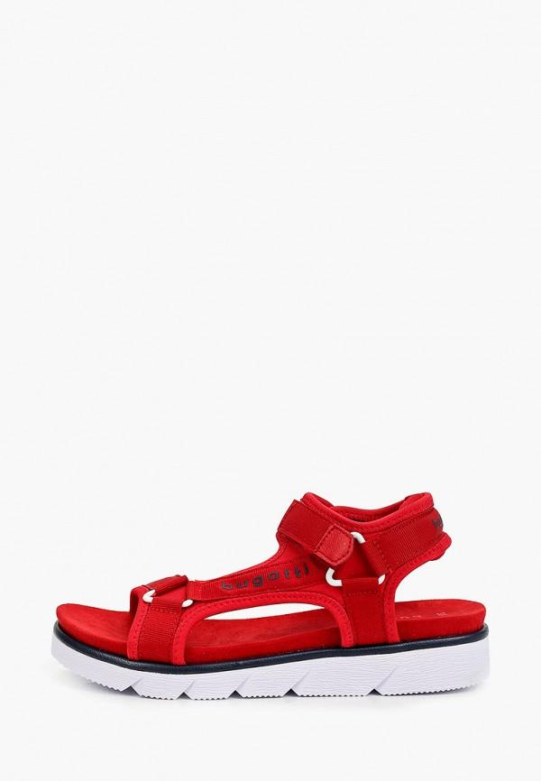 женские сандалии bugatti, красные