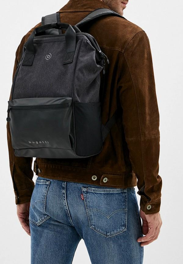 Фото 4 - мужской рюкзак Bugatti черного цвета