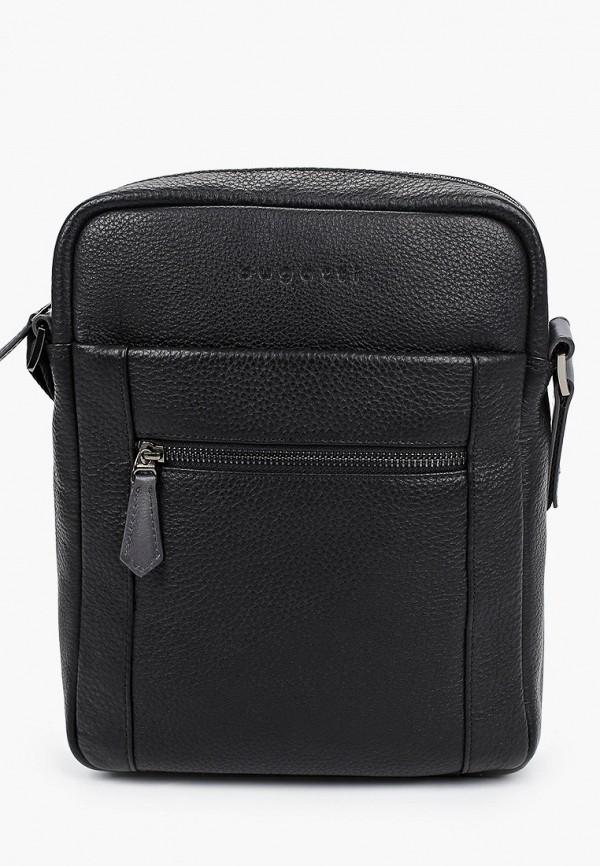 мужская сумка bugatti, черная