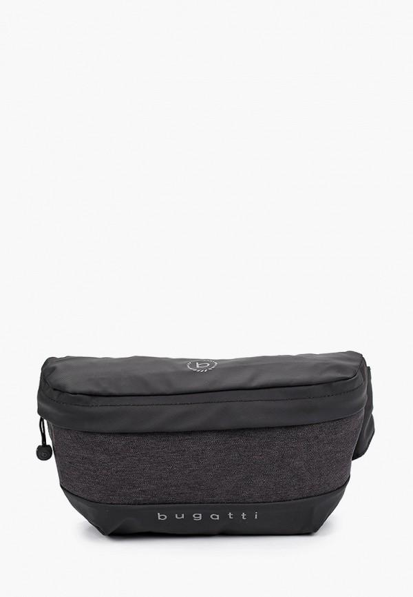 мужская сумка bugatti, серая