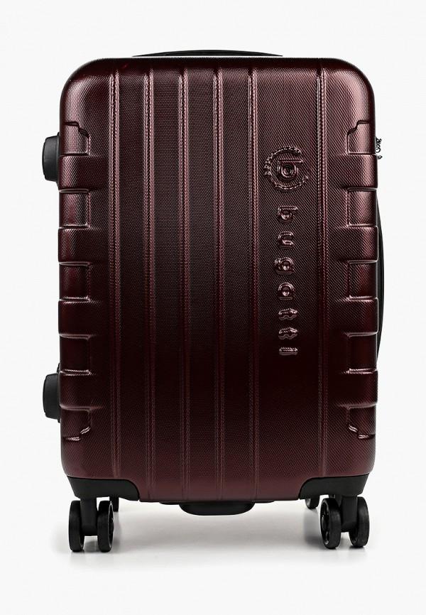 женский чемодан bugatti, бордовый
