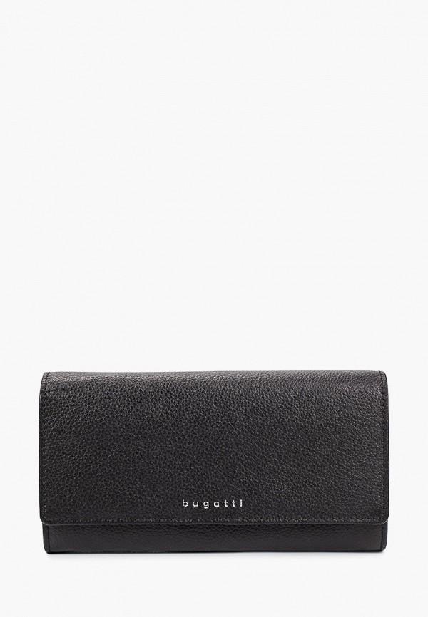 женский кошелёк bugatti, черный