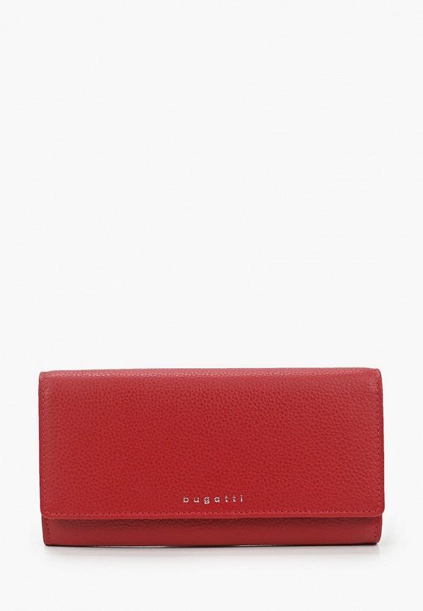 женский кошелёк bugatti, красный