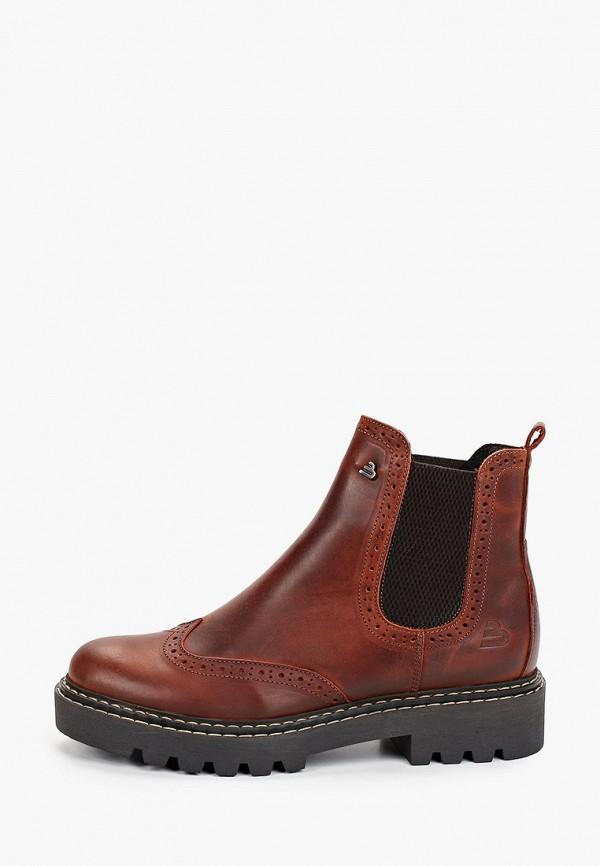 женские ботинки bullboxer, коричневые