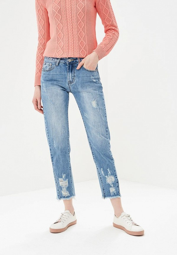 женские джинсы бойфренд by swan, синие