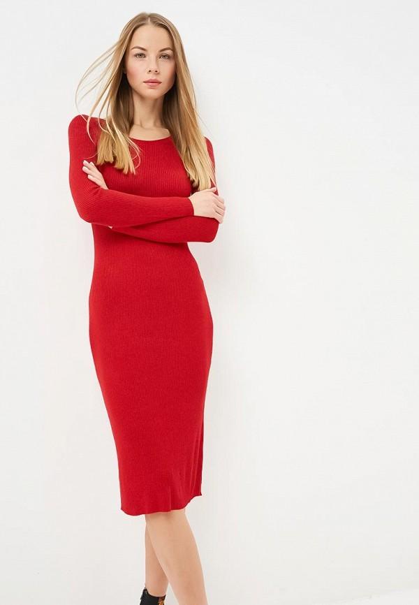 женское платье by swan, красное