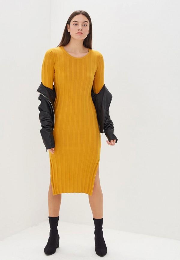 женское повседневные платье by swan, желтое