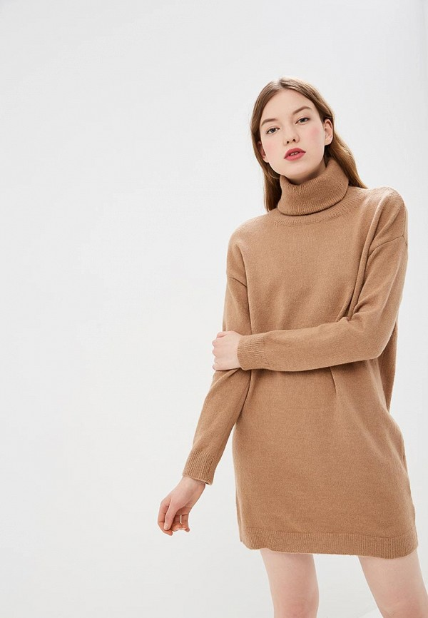 женское платье by swan, коричневое