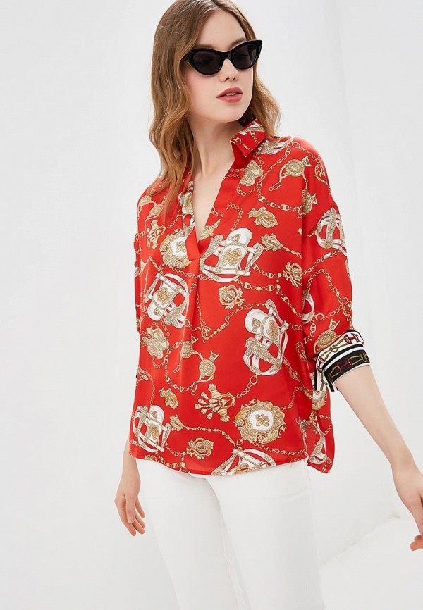 женская блузка by swan, красная